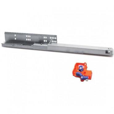 Направляющие  скрытого типа 500 мм H=45мм с доводчиком