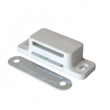 Защёлка магнитная одинарная белая