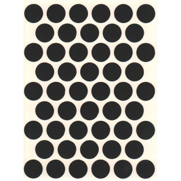 Заглушка WG самокл. D=14мм (черная) 108шт.