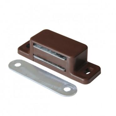 Защёлка магнитная одинарная коричневая